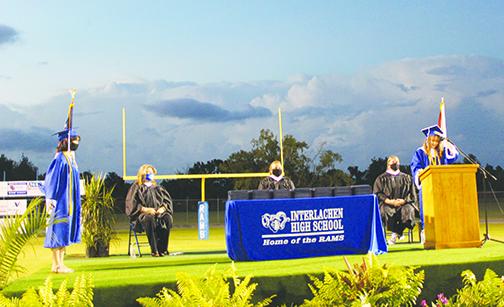 The Interlachen High School graduation on Tuesday night.