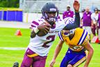 Pictured in the Aug. 16 preseason game at Union County, Crescent City senior quarterback Naykee Scott passed for five touchdowns two weeks ago. (FRAN RUCHALSKI / Palatka Daily News)