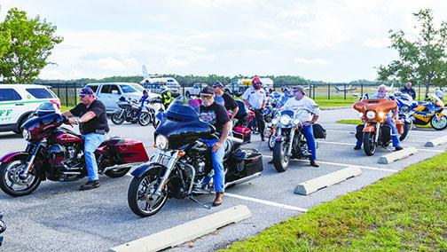 Motorcyclists take part in the first Orlando Fisher House ride, which made a stop in Palatka.