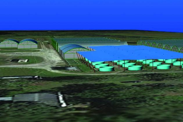 An artist's rendering of Marineland Aquaponics in eastern Putnam County.
