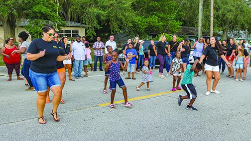 Moseley Elementary students, staff and parents celebrate's the school's improvements in July.