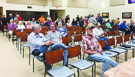 Local residents turn out for a Putnam County Commission town hall meeting.