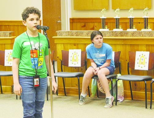 Armand Kuykendall won the Putnam County Spelling Bee for the second year in a row.