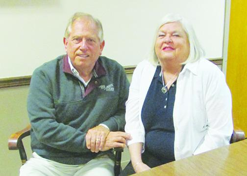 Clerk of Courts Tim Smith, sitting with his wife, Darlene, will not seek re-election this year.