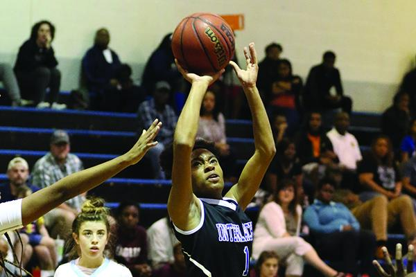 Pictured in last week's district semifinal, Malea Brown scored 20 points for Interlachen Thursday. (GREG OYSTER / Special To The Daily News)