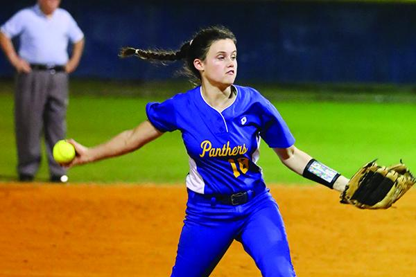 Palatka High newcomer Amy Kennedy struck out 11 hitters in her PHS debut against Keystone Heights last week. (GREG OYSTER / Special To The Daily News)