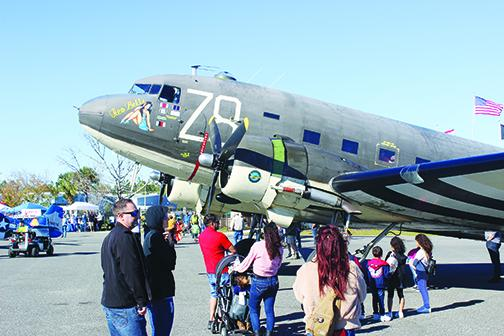 "The ""Tico Belle,"" a World War II-era plane, is on display at the 10th annual Fly-in and Classic Car Show in January."