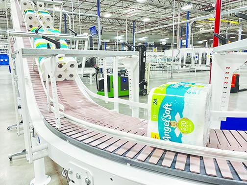Angel Soft bath tissue rolls off the production line at Georgia-Pacific's mill in Palatka. The company said it's prepared to meet consumer demand caused by coronavirus fears.