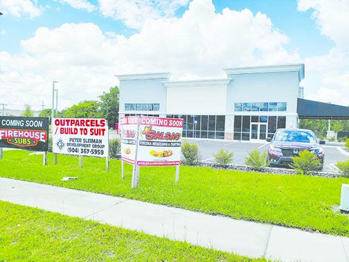 A Firehouse Subs is expected to open in this development along State Road 19 in Palatka in late May or early June.