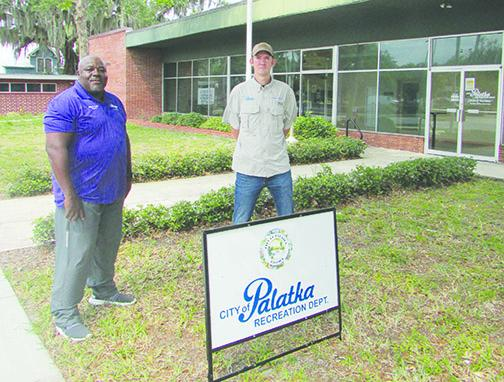 Eddie Cutwright and Winston Fletcher of Palatka's Recreation and Cultural Arts Department.