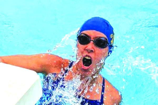 Palatka's Addison Kirby swims the 100-yard breaststroke during Tuesday's meet against St. Augustine. (Submitted photo)