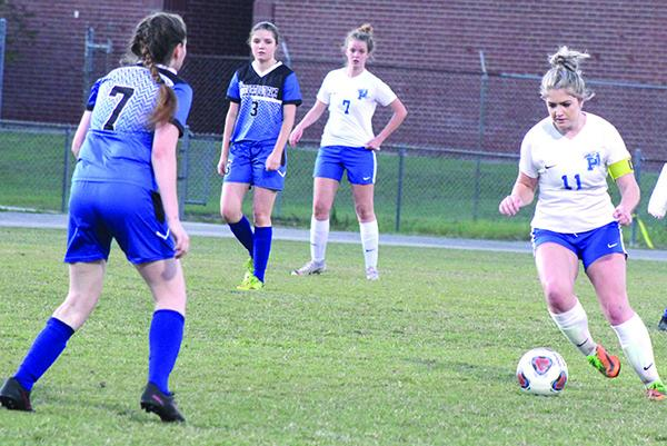 Savannah Cutrer (11) is one of the many returnees to the Palatka High School girls soccer team. (MARK BLUMENTHAL / Palatka Daily News)