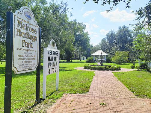 Melrose Heritage Park is one of two locations a committee recommended the Board of County Commissioners relocate the Confederate statue currently at the Putnam County Courthouse.