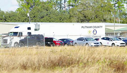 The Putnam County Unified Command Center sits at the county's vaccine distribution site Tuesday as county officials begin Moderna vaccinations.