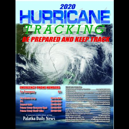 2020 Hurricane Tracking Map