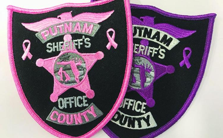 The patches on sale at the Putnam County Sheriff's Office.