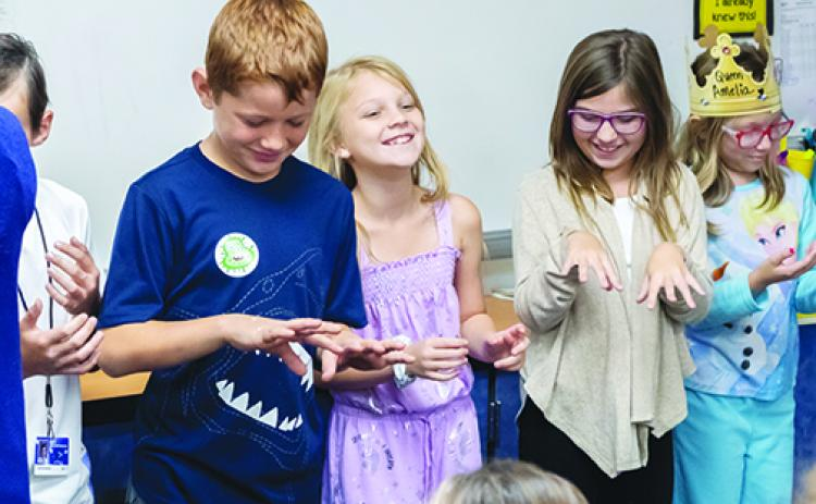 Kelley Smith Elementary students learn the importance of handwashing.