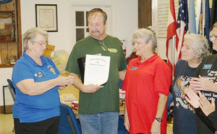 Richard Bair is inducted into the American Legion Post 45.