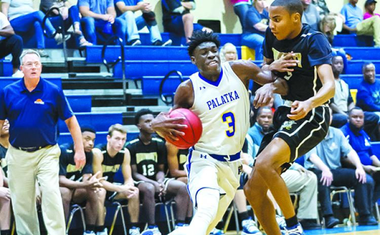 Palatka's Malik Beauford drives to the basket in last year's championship game against Jacksonville University Christian. (Daily News file photo)