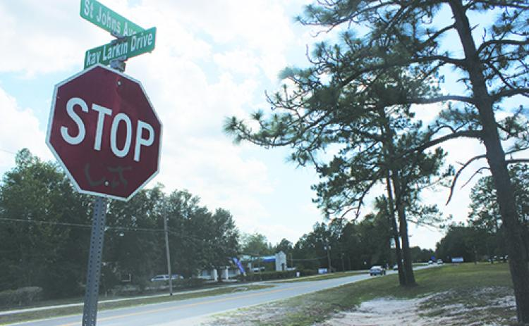 Recent construction as the intersection of St. Johns Avenue and Kay Larkin Drive in Palatka has some drivers upset at the condition of the road.