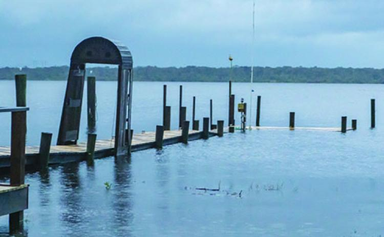 Docks along River Street in Palatka were submerged in the St. Johns River in the wake of Hurricane Dorian last September. A potential tropical storm could bring heavy rain to the county.
