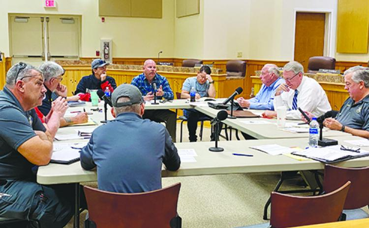 The Putnam County Fire and Emergency Medical Services committee meets for the first time in March before meetings were moved online because of COVID-19.