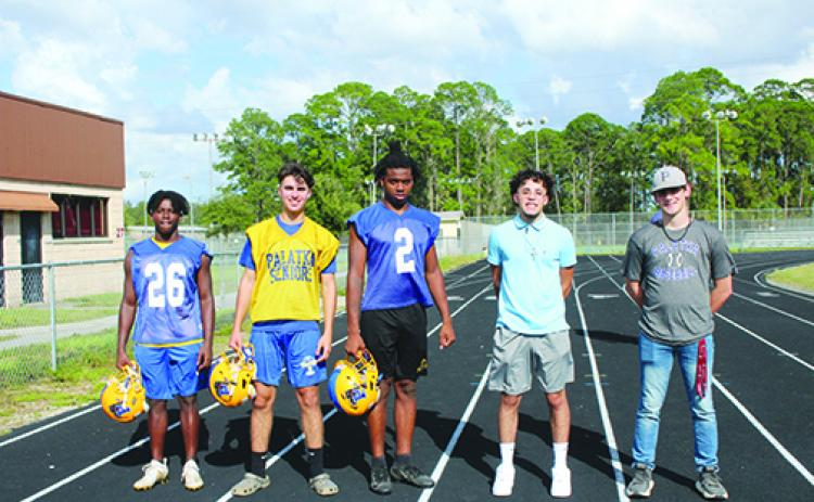 Some members of Palatka High School's homecoming court include Tommy Robinson, Gabriel Herrington, Shemar Curry, Dominic Huerta and Alex Renta.