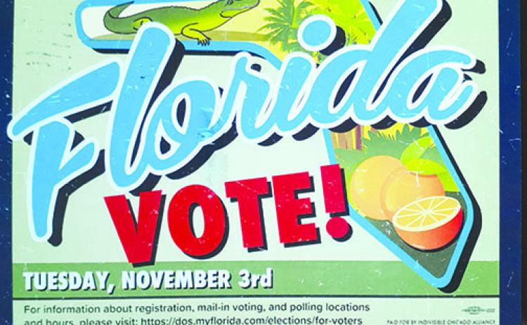 The front of the postcard a Palatka resident said is targeting local voters.
