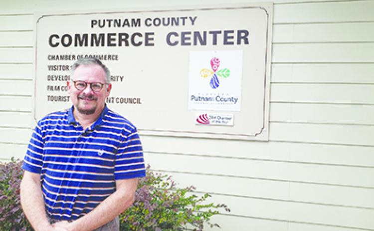 Brian Bergan, the Putnam County Chamber of Commerce's outgoing vice president of economic development.