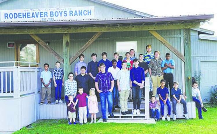 Rodeheaver Boys Ranch residents pose for a photo for the ranch's Christmas card.