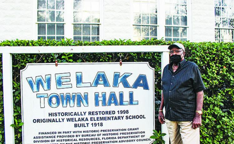 Longtime Welaka Councilman Willie Washington stands outside Town Hall in February. Washington died Wednesday.